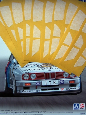 Window masking tape BMW M3 DTM