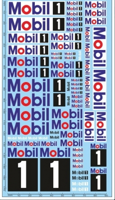 Decals Mobil1 (200x100 mm)